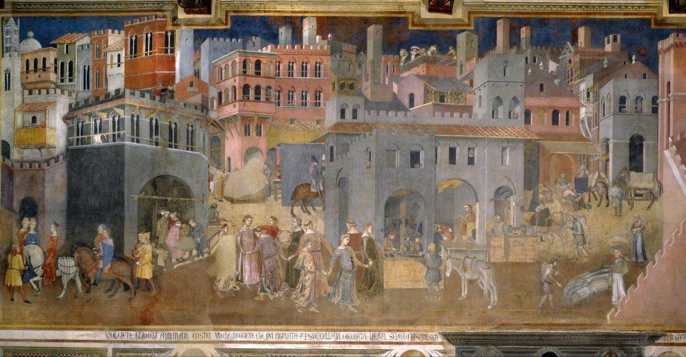 Effet bon gouvernement Ambrogio Lorenzetti ville