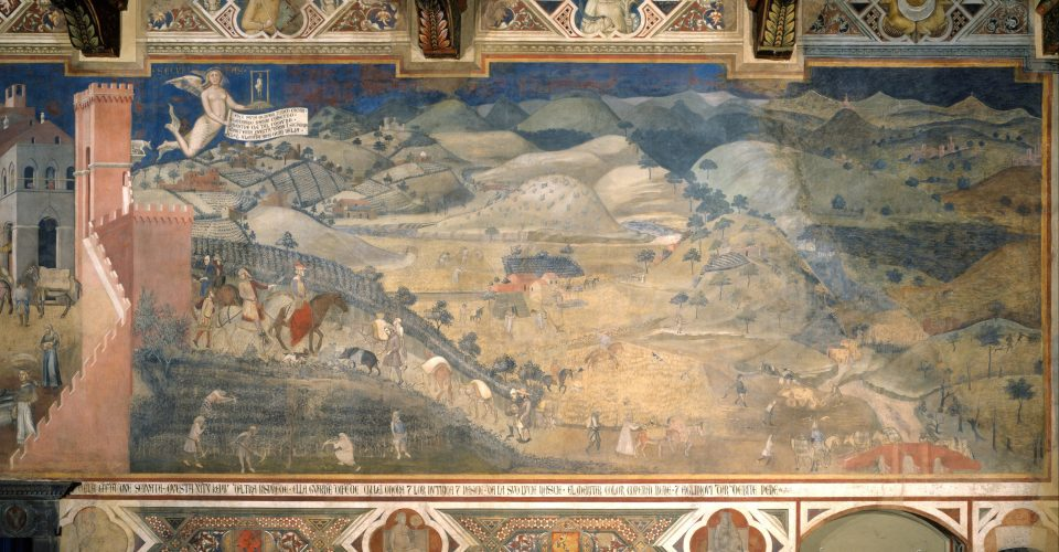 Effet bon gouvernement Ambrogio Lorenzetti campagne