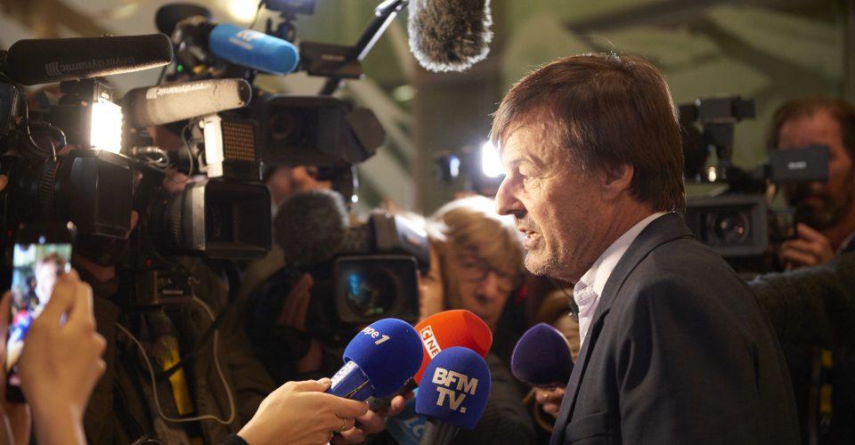 Nicolas Hulot à la Convention Citoyenne répondants aus médias et à la presse