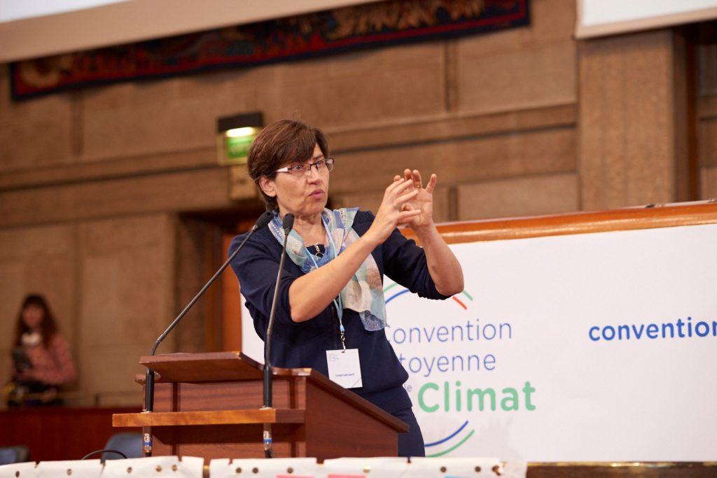 Valérie Masson Delmotte à la Convention Citoyenne